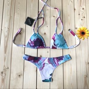 ZAFUL Watercolor Bikini Set NEW